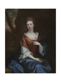Portrait of a Lady in a Red Dress Giclee Print by Godfrey Kneller