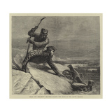 Seals and Sealskins, Hunters Killing the Seals in the Arctic Regions Giclee Print by Samuel Edmund Waller