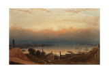 The Basin of the Patapsco from Federal Hill, Baltimore Giclee Print by Sanford Robinson Gifford