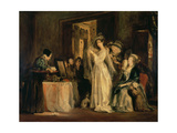 The Bride at Her Toilet on the Day of Her Wedding, 1838 Giclee Print by Sir David Wilkie