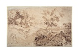 Landscape in the Manner of Titian Giclee Print by Sir Anthony van Dyck