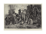 A Badger Hunt in Somerset, the Draw Giclee Print by Robert Walker Macbeth