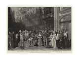The Christening of H R H the Prince of Wales in St George's Chapel, Windsor Castle, 25 January 1842 Giclee Print by Sir George Hayter
