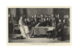 The First Council of Her Majesty the Queen, Kensington Palace, 20 June 1837 Giclee Print by Sir David Wilkie