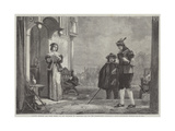 Master Slender and Anne Page Giclee Print by Sir Augustus Wall Callcott