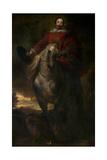 Equestrian Portrait of the Painter Cornelis De Wael Giclee Print by Sir Anthony van Dyck