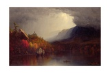 Study of a Coming Storm on Lake George, 1863 Giclee Print by Sanford Robinson Gifford