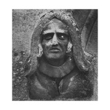Stone Carving of a Man's Head, Toddington Manor, Gloucestershire Giclee Print by Simon Marsden