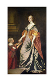 Lady Mary Villiers (1622-85) and Mrs Gibson Giclee Print by Sir Anthony van Dyck
