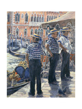 Servizzio Gondole, Grand Canal Giclee Print by Rosemary Lowndes