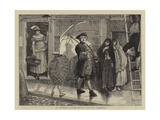 St Swithin'S, Jonas Hanway and His Umbrella Giclee Print by Sir James Dromgole Linton