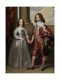 William Ii, Prince of Orange, and His Bride, Mary Stuart, 1641 Giclée-Druck von Sir Anthony Van Dyck