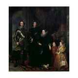 The Lomellini Family, C.1626-27 Giclée-Druck von Sir Anthony Van Dyck
