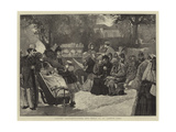 London Sketches, Curds and Whey in St James's Park Giclee Print by Sir James Dromgole Linton