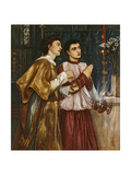 Two Acolytes Censing: Pentecost (Bodycolour on Paper Mounted on Canvas) Giclee Print by Simeon Solomon