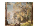 Ullswater, Silver and Gold, 1917 Giclee Print by Sir David Murray