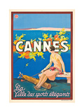 Poster Advertising Cannes Giclee Print by  Sem