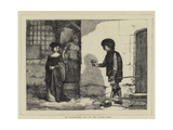 St Valentine's Day in the Olden Time Giclee Print by Sir James Dromgole Linton