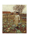 A Hind's Daughter, 1883 Giclée-tryk af Sir James Guthrie
