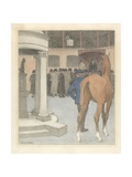 The Bayhorse, Tattersalls, 1921 Giclee Print by Robert Polhill Bevan