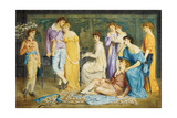 A Prelude by Bach, 1868 Giclee Print by Simeon Solomon
