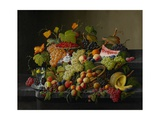 Abundant Fruit, 1858 Giclee Print by Severin Roesen