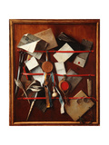 Feigned Letter Rack with Writing Implements, C.1655 Giclee Print by Samuel van Hoogstraten