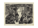 Human Hair Market in Alsace Giclee Print by Robert Walker Macbeth