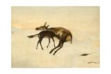 A Random Shot Giclee Print by Edwin Landseer