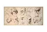 Eleven Head Studies Giclee Print by Sir Anthony van Dyck