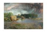A Hampshire Haying Giclee Print by Sir David Murray