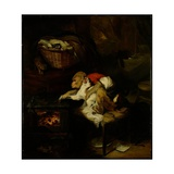 The Cat's Paw, C.1824 Giclee Print by Edwin Landseer