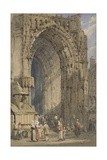 The Porch, Rheims Cathedral, C.1840 Giclee Print by Samuel Prout