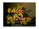 Still Life with a Basket of Fruit, 19th Century Giclee Print by Severin Roesen