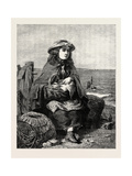 Waiting for Father, 1863 Giclee Print by Robert Collinson