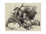 Deer-Stalking in the Highlands, Watching the Body Giclee Print by Edwin Landseer