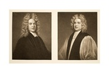 Left: Henry Sacheverell D.D. Right: Francis Atterbury, Bishop of Rochester, Pub. 1902 (Collotype) Giclee Print by Godfrey Kneller