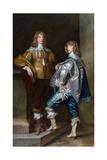Lord John Stuart and His Brother, Lord Bernard Stuart Giclee Print by Sir Anthony van Dyck