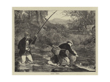 Salmon Fishing Giclee Print by Robert Walker Macbeth