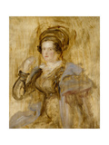 Portrait of Maria, Lady Chalcott, 19th Century Giclee Print by Sir David Wilkie