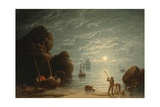 Moonlight Coastal Scene, 1836 Giclee Print by Robert Salmon