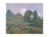 On Luppitt Common, No. 1, 1924 Giclee Print by Robert Polhill Bevan