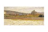 Landscape of Modigliana Impression giclée par Silvestro Lega