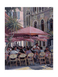 Lunch in the Shade, Monte Carlo Giclee Print by Rosemary Lowndes