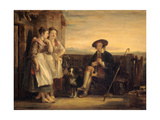 A Scene from the Gentle Shepherd, C.1823 (Panel) Giclee Print by Sir David Wilkie