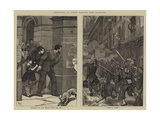 Sketches in Paris During the Fighting Giclee Print by Robert Walker Macbeth