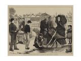 London Sketches, Miniature Yachting in Kensington Gardens Giclee Print by Robert Walker Macbeth