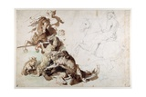 A Wolf and Fox Hunt (The European Hunt) Giclee Print by Sir Anthony van Dyck