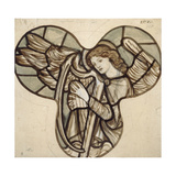 Design for Stained Glass in Lyndhurst Church: an Angel Harpist, 1862 Giclee Print by Sir Edward Coley Burne-Jones
