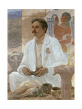 Sir Arthur Evans Among the Ruins of the Palace of Knossos, 1907 Giclee Print by William Blake Richmond